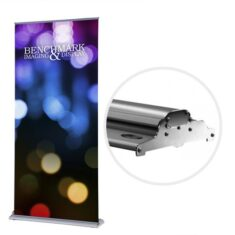Banner Stand with Leveling Legs and Snap on Color Accents