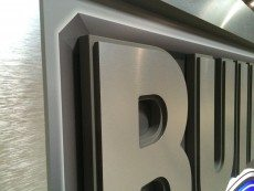 Close Up of Custom Dimensional Letters