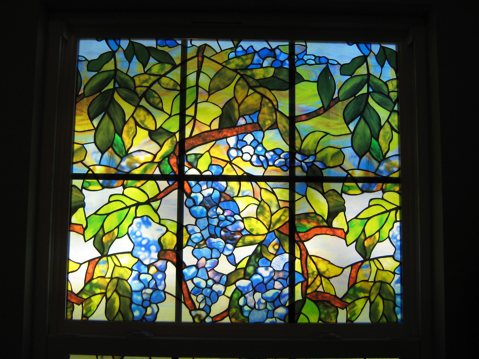 Stained glass window film benchmark imaging display for Stained glass window film