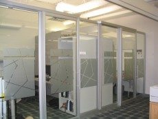 Frosted Glass Divider