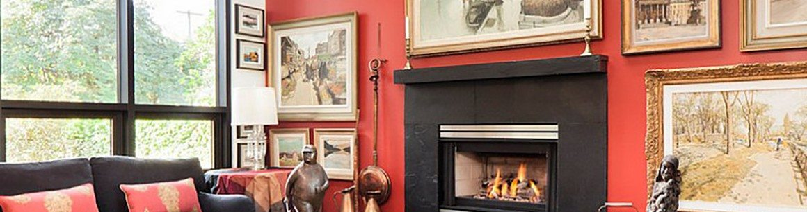 Conventional Frames around Fireplace