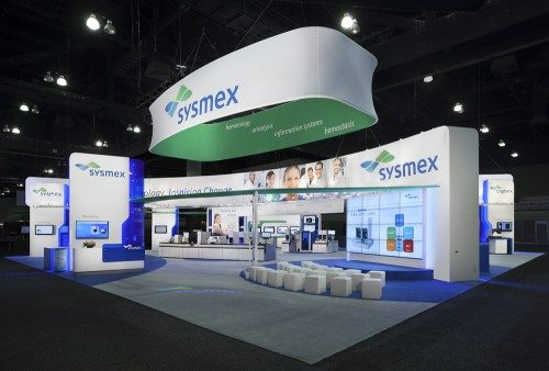 Sysmex Exhibit AACC 2012, Los Angeles 3D Exhibits Padgett and Company Job#3589