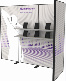Portable Exhibit with Shelves 3