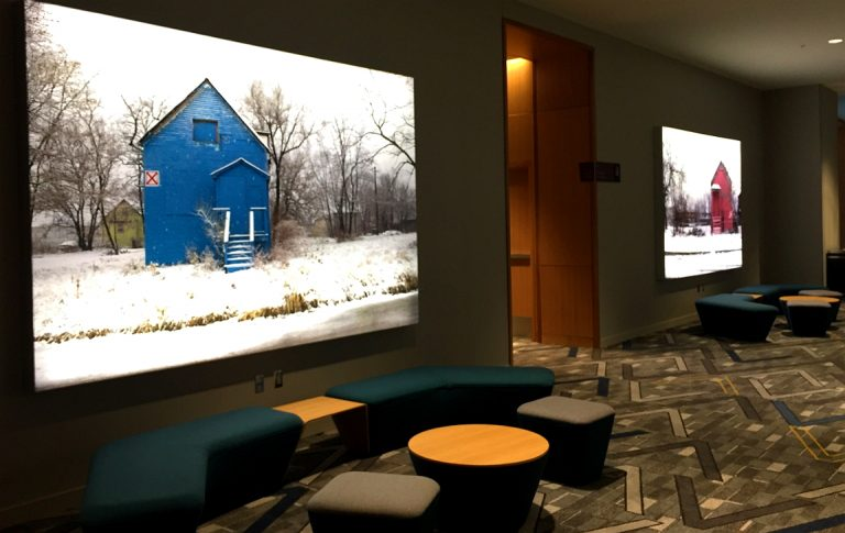 Prefunction area lightboxes for Marriott