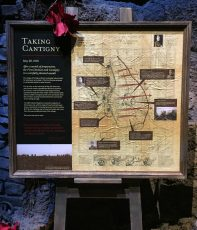 taking cantigny information panel with map on sintra