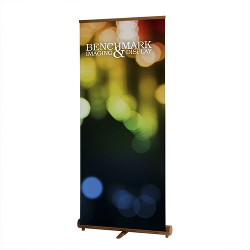 Bamboo Banner Stand Deployed
