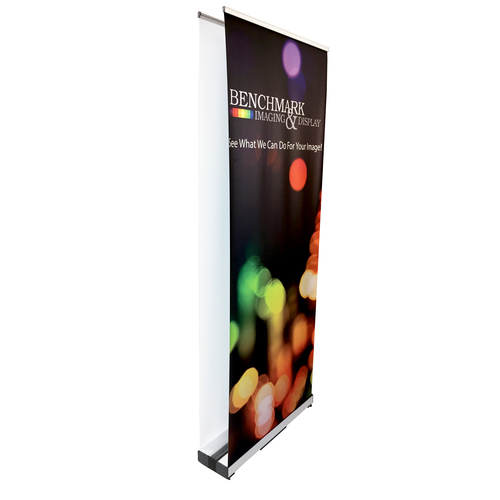 One or Two Double Sided Banner Angled Shot