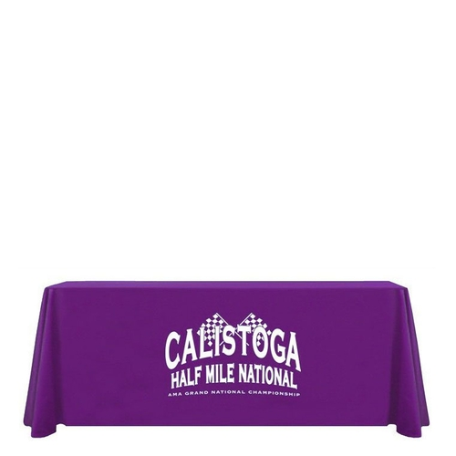 1 Color Screen printed 8ft table drape